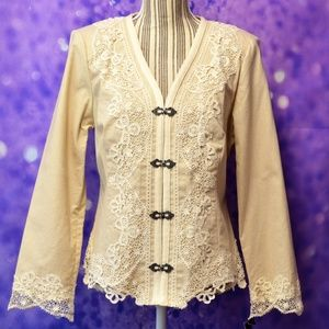 Pamela McCoy Embroidered Blazer Size Small